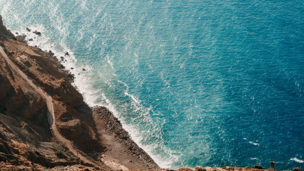 Blick auf die Küste von Kreta