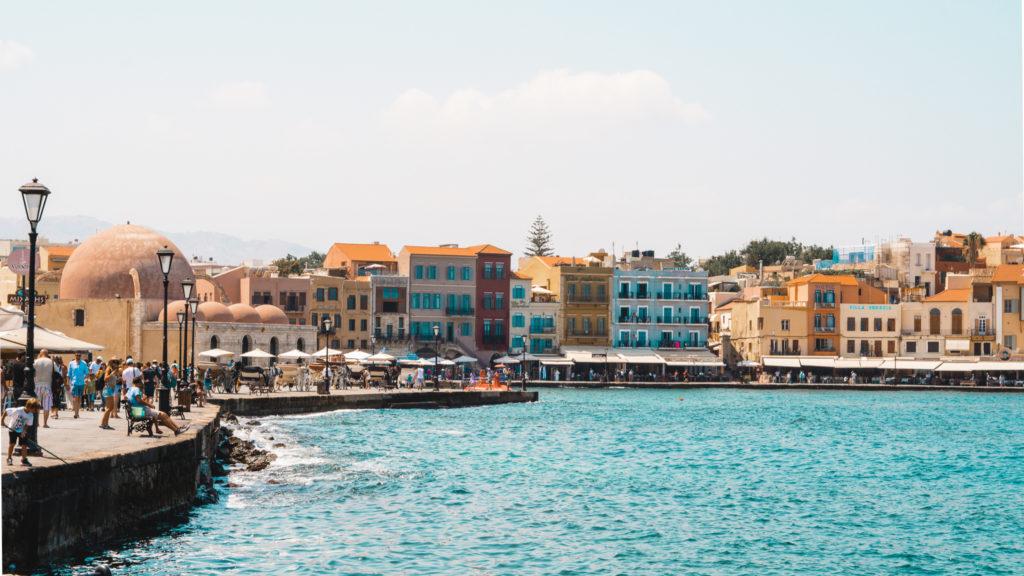 Der alte Hafen von Chania, Kreta
