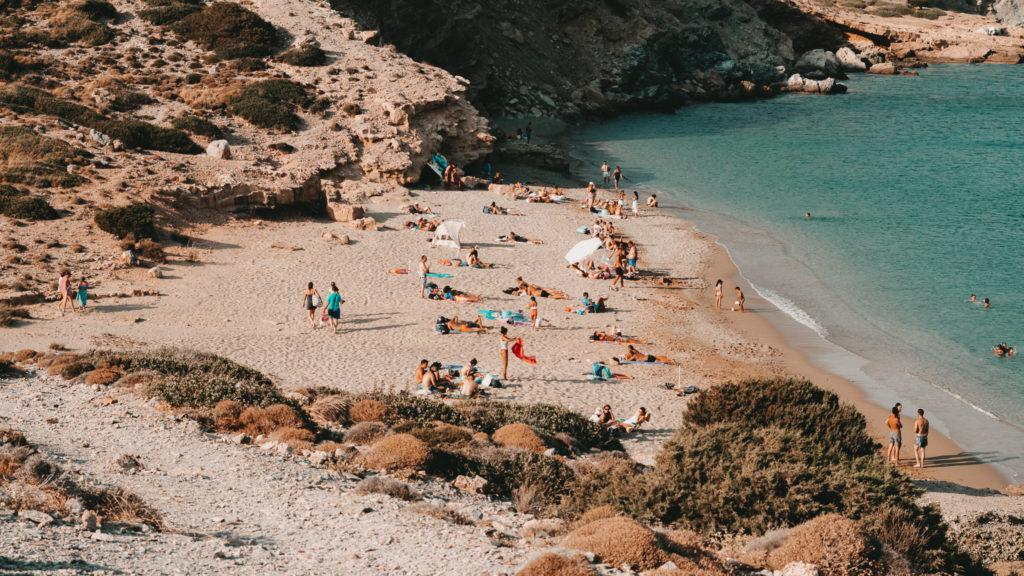 Der Sandstrand von Gramvousa im Osten von Kreta