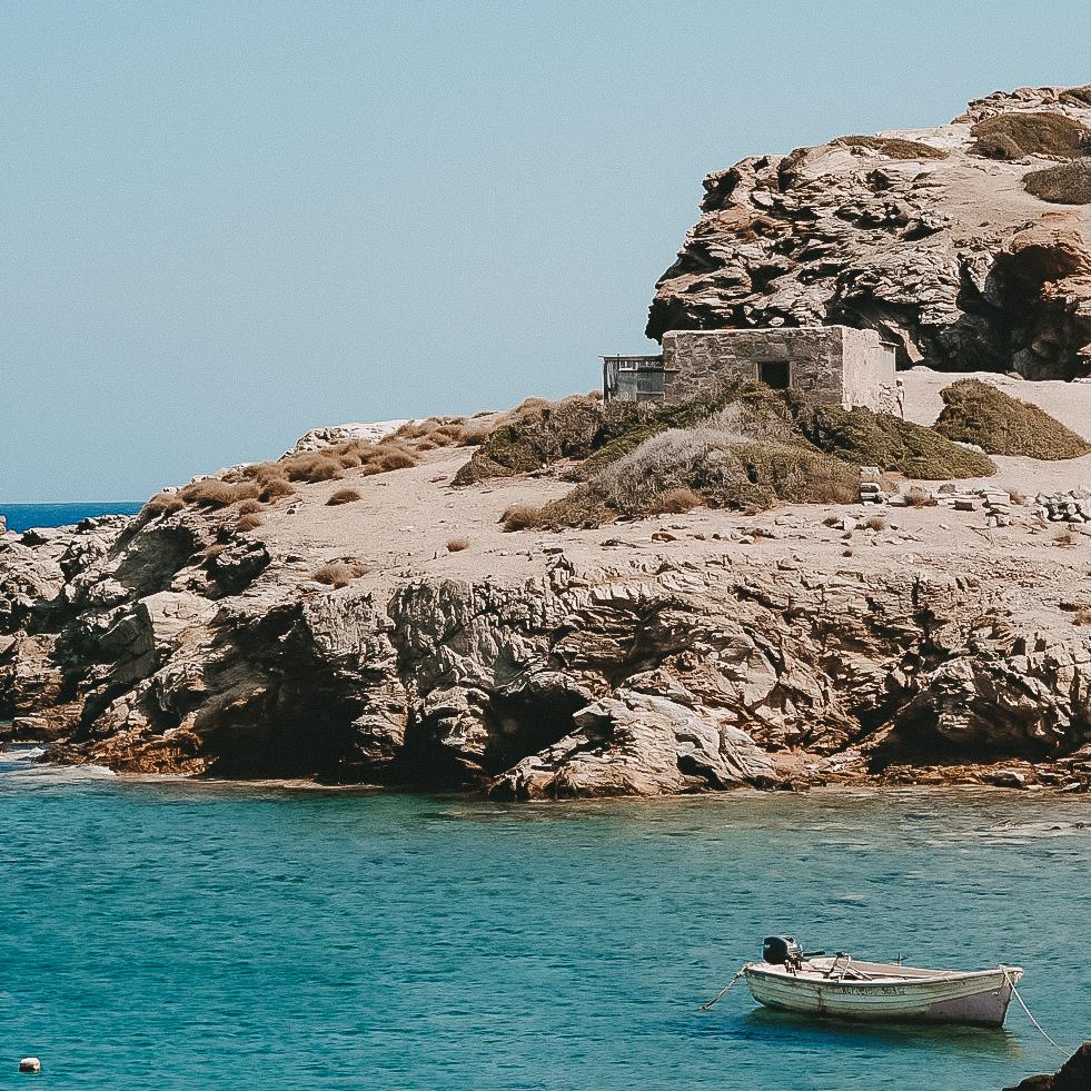 die Landzunge am Strand von Itanos auf Kreta