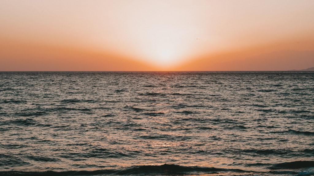 Sonnenuntergang am Meer auf Kreta