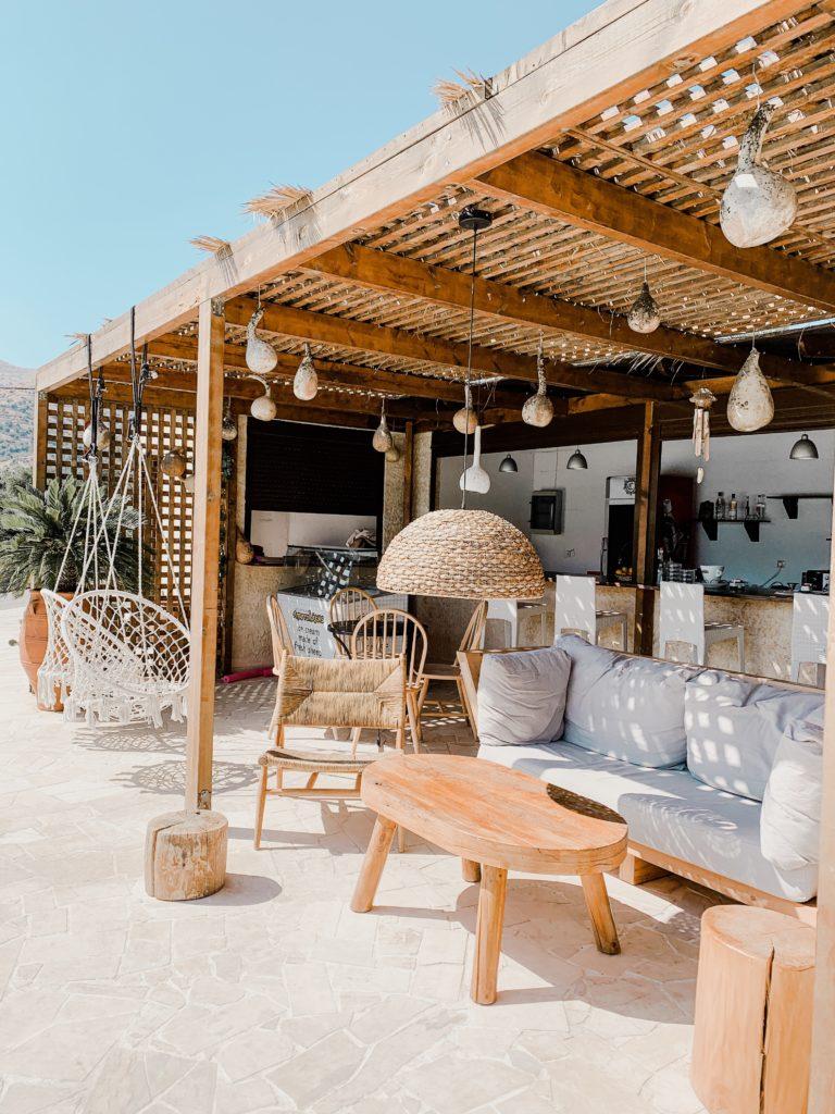 Gemütliche Hotelbar in Agia Galini