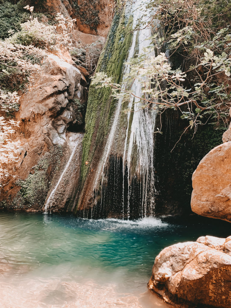 Der Wasserfall in der Richtis Schlucht auf Kreta