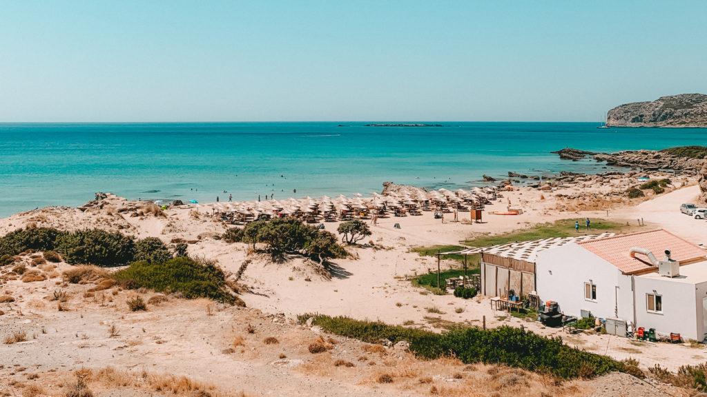 Ein Strandabschnitt in Falassarna