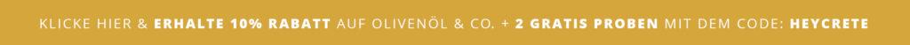 Rabattcode für Olivenöl und griechische Naturprodukte