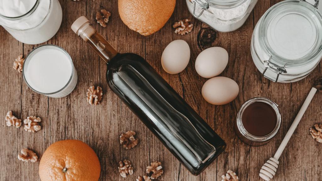 zutaten fuer griechischen olivenoelkuchen