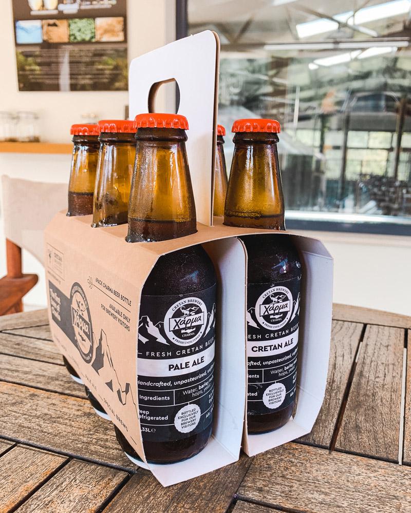 Bierflaschen im 6er Träger
